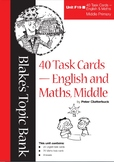 40 Task Cards - English and Maths
