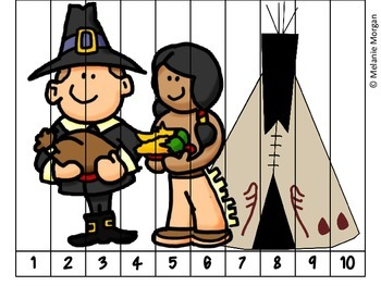 40 Thanksgiving Number Order & Skip Counting Puzzles