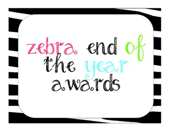 40 Ultimate End of the Year Awards, Jungle Zebra Style