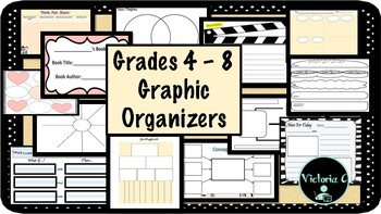 L@@K! Useful Graphic Organizers for across the curriculum AND grades PDF and PPT