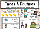 40+ VOCABULARY Time & Routines Thematic Unit ESL/ELL/EFL