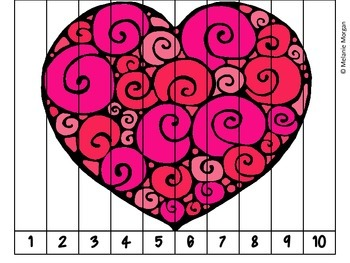 40 Valentine's Day Number Order & Skip Counting Puzzles