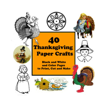 40 Vintage Thanksgiving Paper Craft Projects to Print and Make.