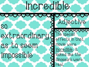 40 Word of the Week Posters