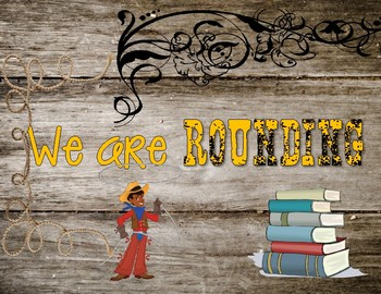 40 book challenge banner/poster (Western theme)