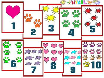 Flashcards - numbers and pictures - Clipart - 40 ...