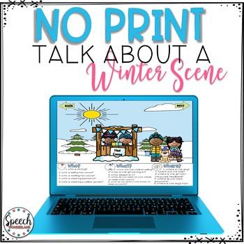 No Print Winter Talk About a Scene