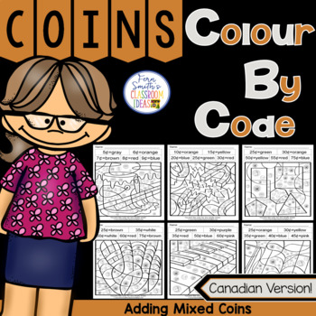 Colour By Code Adding Mixed Canadian Coins