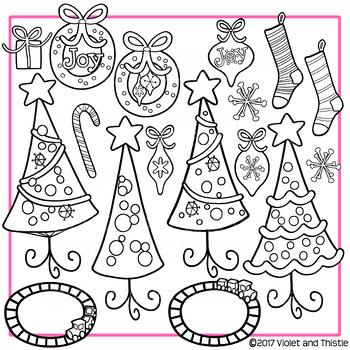Clipart Christmas Tree Clipart Christmas Wreath Clipart Christmas
