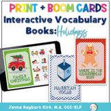 Interactive Vocabulary Books: Holidays (Winter Holidays Set 1)