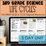 Plant & Animal Life Cycles 5-Day Unit 3-LS1-1   Print + Google   3rd
