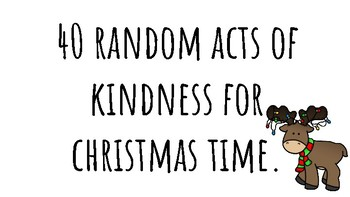 40 random acts of kindness for christmas time