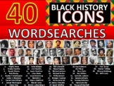 40 x Black History Month Famous People Icons Wordsearches Wordsearch Keywords