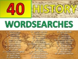 40 x History Wordsearch Starter Activities Cover Homework Keyword Settler