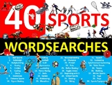 40 x Sports Wordsearches PE Fitness Health Starter Settler Activity Homework