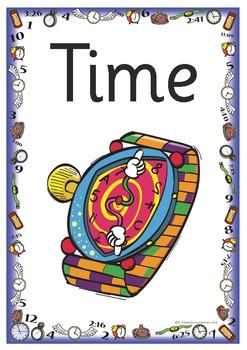 40 x Teaching Time Vocabulary Word Cards - ZIP FILES INCLU