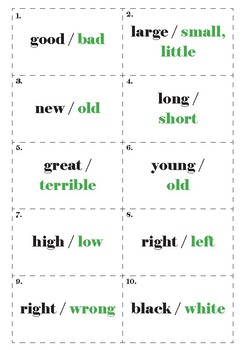 400 Adjective Cards: Both sets