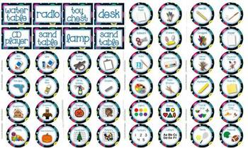 400+ Multi-Colored Polka Dots on Black Themed Classroom and Supply Labels