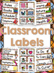 400+ Classroom and Supply Labels - Multi-Colored Polka Dots on Chocolate Theme