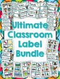 Ultimate Classroom Label Bundle - Multi-Colored Polka Dots