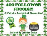 400 Follower Freebie!  St. Patrick's Day Math & Phonics Printables!