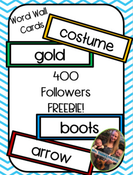 400 Followers FREEBIE! Word Wall Word Cards