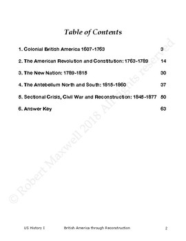 400 US History I Multiple Choice Questions