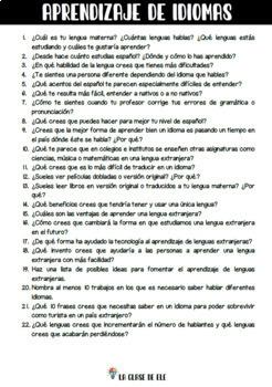 Practica Oral 450 Preguntas Sobre 28 Temas Para Conversacion En Espanol