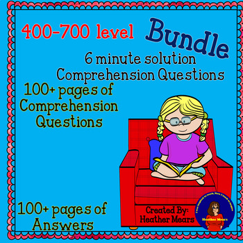 400 to 700 level 6 minutes solution comp questions