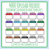 4000 Upload Freebie - Calendar Blank Templates for Daily Icons Etc Clip Art