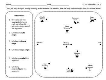 Grade 4 Math Activity - Zoo Geometry