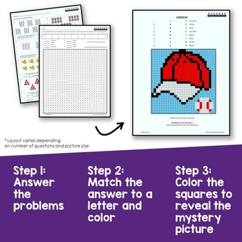 Division Activities for 3rd Grade Math Review Sheets Mystery Pictures
