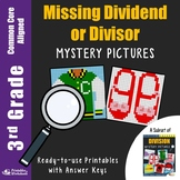 Division Coloring Sheets for 3rd Grade, Missing Dividend Worksheets