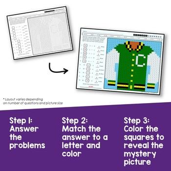 Division Coloring Sheets for 3rd Grade, Missing Dividend Worksheets