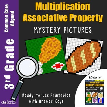 3rd Grade Associative Property of Multiplication Worksheets Mystery Pictures
