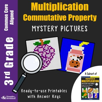 3rd Grade Commutative Property of Multiplication Activities Mystery Pictures