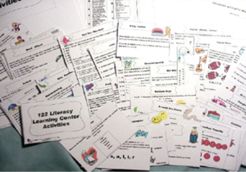 408 MATH & LITERACY PRINTABLE  LEARNING CENTER ACTIVITES TASK CARDS  Gr.2-3