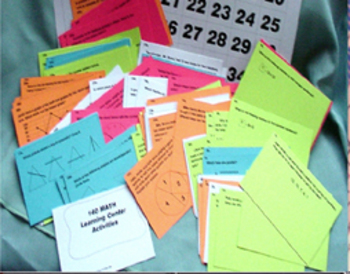 408 PRINTABLE  MATH & LITERACY LEARNING CENTER ACTIVITES ON a CD  (Gr.2-3 )