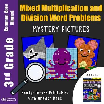 Multiplication Division Word Problem Grade 3 Math Worksheets Coloring Activity