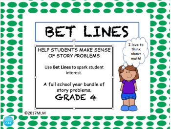 40Math Word Problems PowerPoint & Printables using the BET Line Strategy-Grade 4