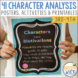 Character Analysis posters, activities, and worksheets