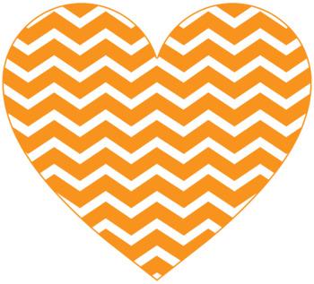 41 Chevron Hearts {Clipart}