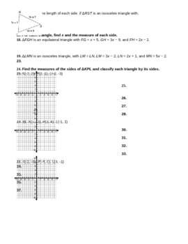 4.1 Classifying Triangles WS