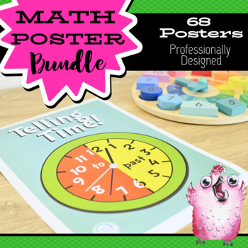 Huge Math Posters Bundle for Elementary / Primary Classrooms