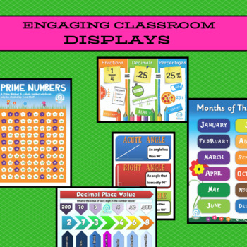 60 Math Posters / Charts / Displays for Classrooms: 23 Numeracy Concepts