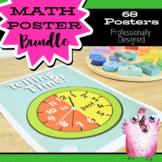 68 Math Posters   Charts   Classroom Displays   Concepts   Strategies   Vocab