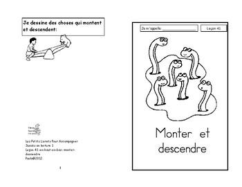 41) Monter et descendre - livret de lecture ENFANT C1 1ère-2e