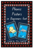 41 australian PHONIC posters charts in BEGINNERS FONT