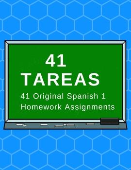 41 Spanish 1 Tareas!       41 Original Written Assignments!