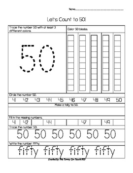 41 to 50 Common Core Number Skills Worksheets